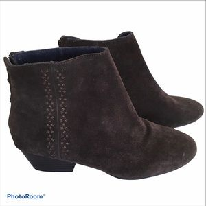 Calvin Klein Jeans Brown Suede Booties Size 9